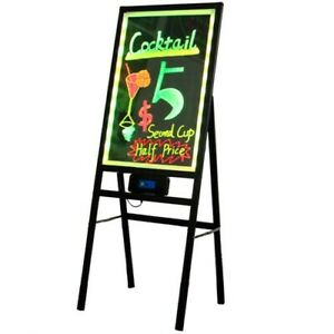 Foldable Led Writing Board Menu Sign Flashing Erasable Signs Indoor outdoor Sign