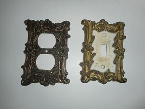 Vintage Edmar Brass Light Switch Cover Outlet Cover Lot