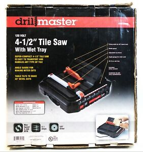 ma5 Drill Master 69230 120v 4 1 2 Tile Saw W Wet Tray