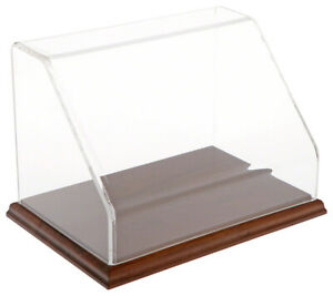 Plymor Slanted Acrylic Display Case With Hardwood Base 9 W X 6 D X 6 H