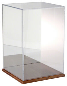 Plymor Acrylic Display Case With Hardwood Base mirrored 10 W X 10 D X 15 H