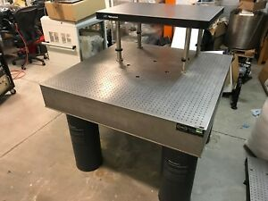 Newport Optical Bench Laser Ss Table 4 x4 x8 Pneumatic Legs 2 x4 Breadboard