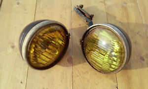 Vintage Blc 524 a Tractor Fog Driving Light 5 3 4 Pair With One Bracket