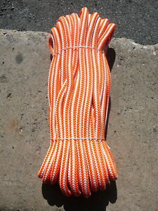 New England 16 Strand Hi vee Arborist Rope Tree Climbing Line 1 2 X 70 Orange