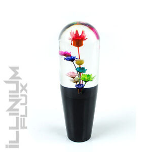 6 Inch Multicolor Flower Bouquet Clear And Black Drift Shift Knob 16x1 5 K32