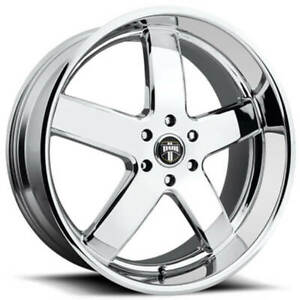 4 Set 24 Dub Wheels Big Baller S222 Chrome Rims Fs