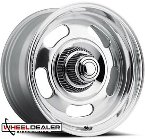 17x8 17x9 Polished Rev Classic 107 Rally Wheels Rims Chevy Gmc C10 Truck 5 Lug