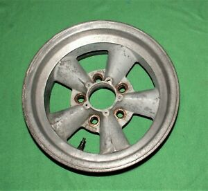 Vintage E t Mag Wheels 14 X 6 75 Unilug M t 5 Spoke Torque Thrust Wheels