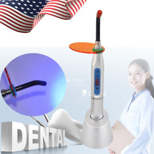 Dental Oral 5w Wireless Cordless Led Curing Light 1500mw cm Lamp Silver Color