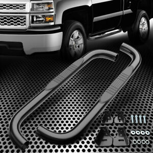 Black Side Step Nerf Bars Running Board Fit 99 18 Chevy Silverado Regular Cab