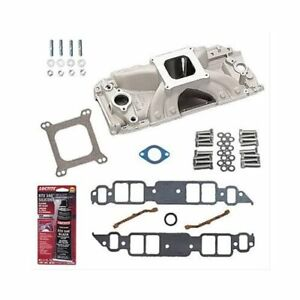 Bbc 396 454 Chevy Rec Port Edelbrock 2902 Intake W gaskets Bolts Pro pack