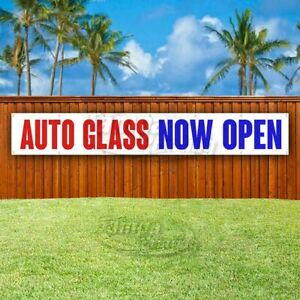 Auto Glass Now Open Advertising Vinyl Banner Flag Sign Large Huge Xxl Size