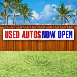 Used Autos Now Open Advertising Vinyl Banner Flag Sign Large Huge Xxl Size