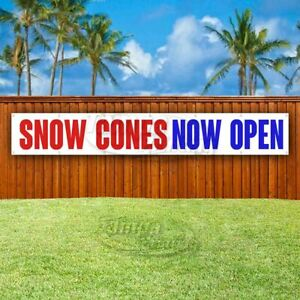 Snow Cones Now Open Advertising Vinyl Banner Flag Sign Large Huge Xxl Size