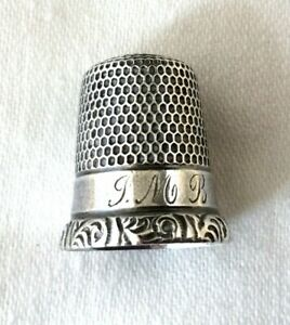 Sterling Silver Thimble Size 9 Simons Bros Co Sewing Crafts Usa 2491