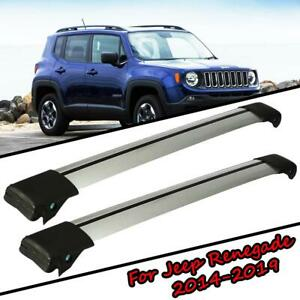 2x Top Roof Rack Cross Bar Cargo Carrier Anti Theft For Jeep Renegade 2014 2019