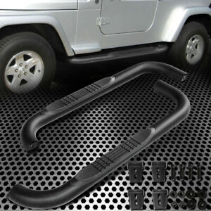 For 87 06 Jeep Wrangler Tj Tju Lj Suv Black 3 Side Step Nerf Bar Running Board