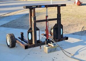 Hydraulic Forkster Pallet Fork Truck Carry All Sod Roller Attachment Ship 299