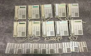 Lot Of 10 Rolm Rp624sl Gry Work Office Business Beige Phones Made In Usa As11