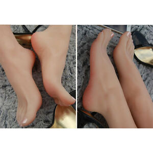Simulation Silicone Realistic Lifelike Feet Female Sock Displays Mannequin Foot