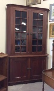 Antique Corner Cabinet Circa 1860 S Large Early Cabinet Seed Glass