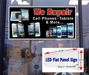 We Repair Cell Phones Tablets And More Led Window Sign 48x24 With Images