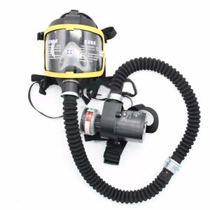 Electric Constant Flow Supplied Air Fed Full Face Gas Mask Respi