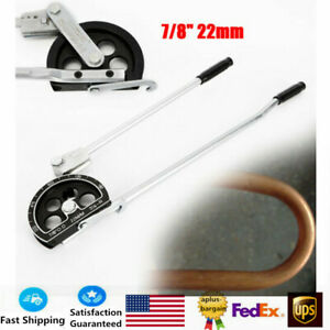 180 7 8 22mm Tube Bender For Plumbing Gas Refrigeration Copper Alu Pipe Top