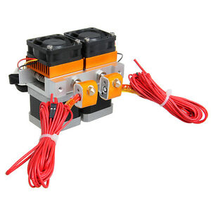 Latest Dual Head Mk8 Dual Extruder 0 35mm Nozzle Makerbot Geeetech 3d Printer