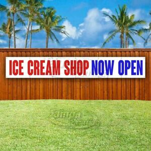 Ice Cream Shop Now Open Advertising Vinyl Banner Flag Sign Large Huge Xxl Size