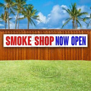 Smoke Shop Now Open Advertising Vinyl Banner Flag Sign Large Huge Xxl Size