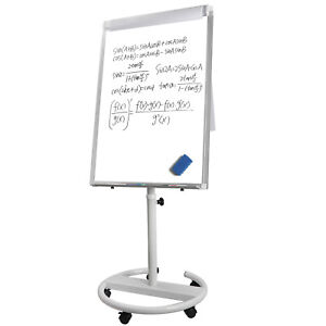 36 x25 Mobile Dry Erase Magnetic Mobile Height Adjustable White Board W wheels