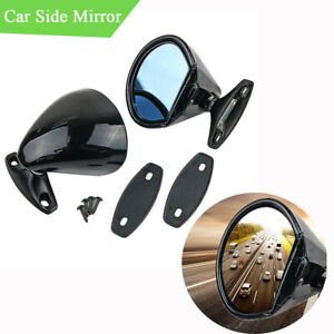 1pair Plane Lens Car Rear View Side Mirror With Accessories Adjustable Universal
