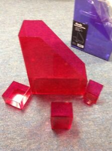 5 Sets Of 4pc Desk Accessories Acrylic 2 Sets Pink And 3 Sets Purple 5 Sets
