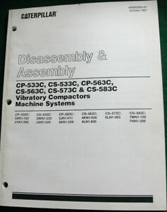 Caterpillar Cp 533c Vibratory Compactor Disassembly Assembly Manual 1997 Ed