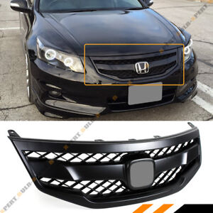 For 2011 12 Honda Accord 4dr Sedan Matt Black Jdm Sport Front Bumper Mesh Grill