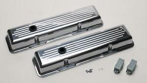 Billet Spec Valve Covers Stock Height Aluminum Ball milled Chevy Sb Pair 95120