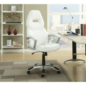 Coaster High Back Office Chair In White