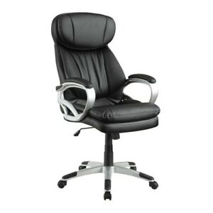 Coaster Office Chair With Headrest In Black