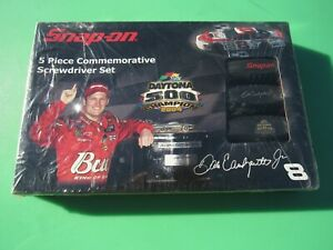 New Snap On 5 Pc Black Red Soft Grip Handle Dale Jr Screwdriver Set Sgdx50aejd