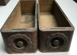 2 Vintage Sewing Machine Drawers W Decorative Sides And Front