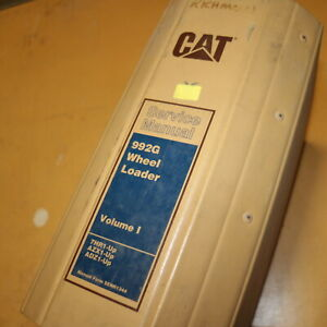 Cat Caterpillar 992g Wheel Loader Repair Shop Service Manual Front End