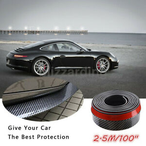 2 5m Universal Carbon Fiber Front Bumper Lip Splitter Body Chin Trim Spoiler Kit