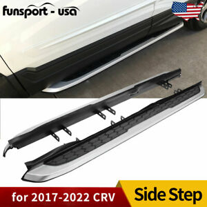 For 2017 2018 2019 Honda Cr v Crv Running Boards Side Step Aluminum Protector