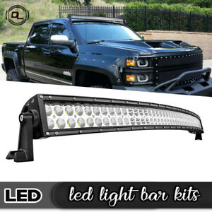 50inch Cree Curved 288w Led Light Bar Combo Driving Offroad Lamp Suv Pk 48 52