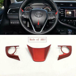 Accessories Steering Wheel Decoration Cover Trim Fit For Toyota Camry 2018 2020