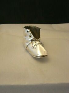 Antique Gorham Heavy Silverplate Decorative Baby Shoe