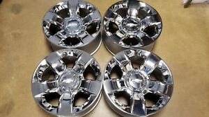 Chevy Silverado Suburban Tahoe Chrome 20 Factory Oem Wheels 5651