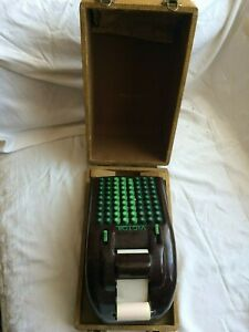 Vintage Bakelite Victor Adding Calculator Early 1900 S With Cover And Paper