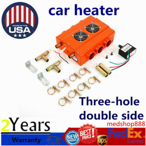 Universal Car Truck Three hole Double sided Car Air Heater Usa Shipping